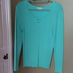 Women's XL Kohls Mint Green sweater NWT
